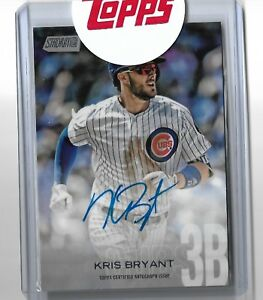 2018 Topps Stadium Club Baseball Kris Bryant Autographed Variation SCA-KB CUBS