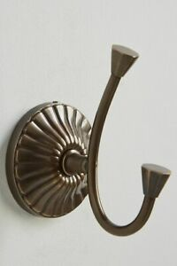 NWT Anthropologie Bronze Fluted Towel Hook