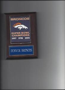 DENVER BRONCOS SUPER BOWL BANNER PLAQUE FOOTBALL NFL