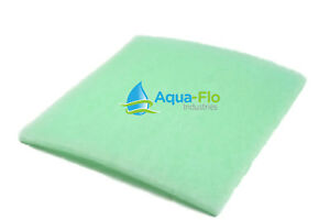 "6pk Aqua-Flo Semi Rigid (Lime) Mechanical Filter Media Pads 1"" Thick x 12"" x 12"""