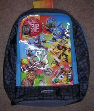 Skylanders Giants Gamepack Holographic Backpack Holds 32 Figures Blue