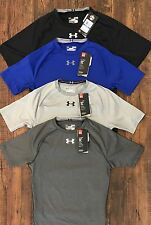 Under Armour Men's Shortsleeve Sonic Compression Shirt 1283211 Black Blue Gray