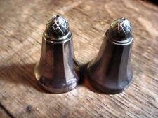 GEORG JENSEN ACORN Pair of Antique STERLING SILVER SALT SHAKERS SALTS