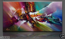 YAKAI Large Hand-painted Oil Painting Wall abstract oil paiting no frame 30x60in