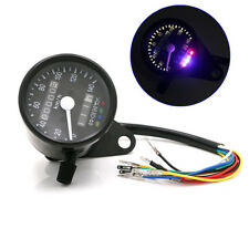 LED Dual Motorcycle Odometer Analog Speedometer Gauge Signal Light 12V 0-140 Kmh