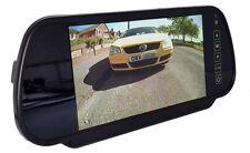 Dual 12 or 24 volt colour mirror rear view monitor