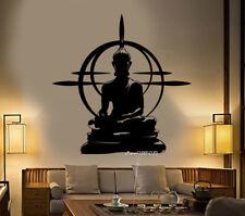 Buddha Vinyl Wall Stickers Chakra Mandala Mantra Meditation Decor Yoga Room Post