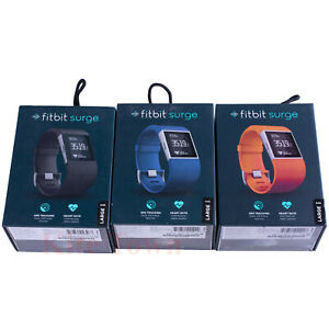 Fitbit Surge Fitness Super Watch With Heart Rate Monitor Black&Blue&Orange
