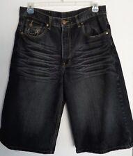 INDIGO 30 Mens DENIM Shorts Size 36 BLACK 36 x 15 THICK STITCHED
