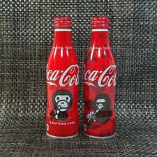 Rare! Coca Cola X A BATHING APE ( BAPE ) 250ml Bottle :Set of 2 Bottles New