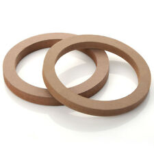 """New listing 2 pcs Mounting Spacer Rings Wooden Mdf Speaker For 6.5"""" Car Stereo New"""