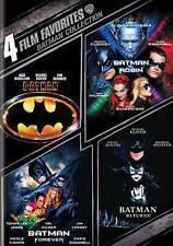 Batman, Batman Forever, Batman and Robin, Bat Man Returnes - 4 Film Set