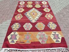 "Vintage Large Turkish Antalya Nomads Kilim 59,4"" x103,1 "" Area Rug Carpet Kilim"