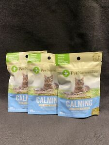 Calming Chews for Cats by Pet Naturals of Vermont 3 Packs Of 30 chews Exp. 3/23