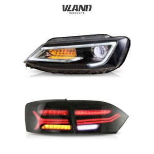 Audi Style LED Headlights& Tail Lights For VOLKSWAGEN VW Jetta Sagitar 2011-2014