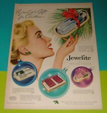 1949 CHRISTMAS PRINT AD~JEWELITE by PRO-PHY-LAC-TIC COMB & HAIR BRUSH SET