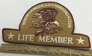 NORTH AMERICAN HUNTING CLUB LIFE MEMBER PATCH EAGLE & RIFLE NEW