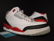 Nike Air Jordan III 3 Retro WHITE FIRE RED CEMENT GREY BLACK 136064-120 OG 9.5