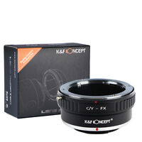 Lens Mount Adapter for Contax/Yashica CY C/Y Lens to Fujifilm Fuji X FX Camera