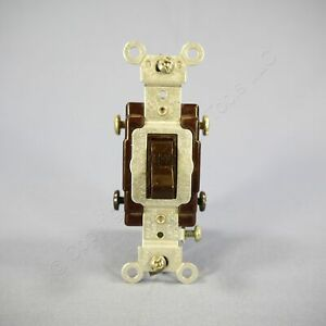 Leviton Brown COMMERCIAL DOUBLE POLE Toggle Wall Light Switch 20A Bulk 5522-2