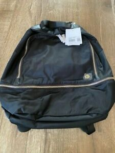 Lululemon City Adventurer backpack black with gold hardware NWT