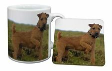 More details for lakeland terrier dog mug+coaster christmas/birthday gift idea, ad-lt1mc