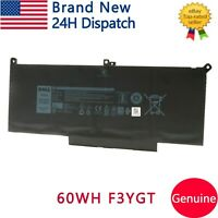 60Wh OEM Genuine F3YGT Battery for Dell Latitude 12 7000 7280 7480 2X39G DM6WC
