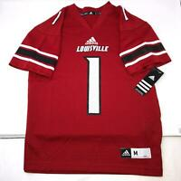 NWT Adidas NCAA Louisville Cardinals #1 Football Jersey Youth Kids all Size