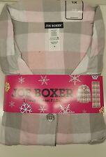 Womens Pajamas Joe Boxer Lounge Pants PJ Flannel 2 Piece 1X