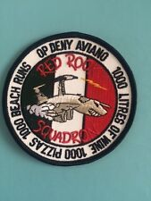 "ROYAL AIR FORCE AWACS ""OP DENY"" AVIANO PATCH"