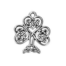 10 Celtic Tree Antique Silver Charms Pendants 19mm x 23mm (027)