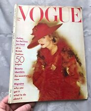 British VOGUE Magazine: April 1st 1974 (vintage condition, some creasing)