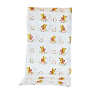 Bear Hugs Premium Quality 100% Organic Cotton Baby Girl Muslin Swaddle Blanket