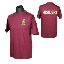 ROYAL REGIMENT OF FUSILIERS RRF MAROON EMBROIDERED/GRAPHIC REGIMENTAL T-SHIRT
