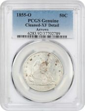 1855-O 50c PCGS XF Detail (Arrows, Cleaned) - Liberty Seated Half Dollar