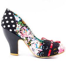 Irregular Choice Canvas Floral Heels for Women