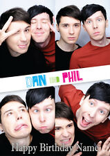 Dan & Phil You Tube **Personalised Birthday Card** Any Name/Age A5 (C34)