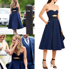 Authentic Self Portrait Lulu Cut out Crepe Full Dress Navy UK Size 10 US 6 New
