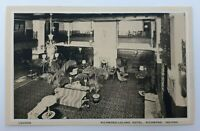Postcard IN Indiana Richmond Leland Hotel c1920s Lounge Interior Unposted