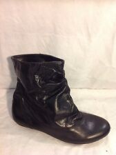 Red Tape Black Ankle Leather Boots Size 37