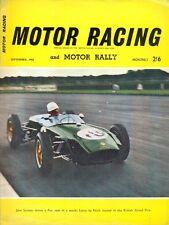Motor Racing - BRSCC journal - magazine - September 1960