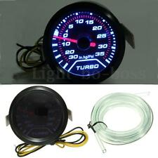 "2"" 52mm 12V Universal Digital WHITE LED PSI TURBO BOOST PRESSURE GAUGE Meter"