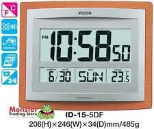 AUSSIE SELLER CASIO WALL CLOCK ID-15-5DF ID15 TEMPERATURE 12 MONTH WARRANTY