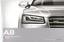 Prospekt / Brochure Audi A8 A8L A8L W12 S8 04/2015