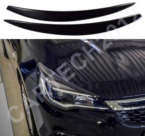 Vauxhall Opel Astra K MK7 Headlight Eyebrows, Eyelid Covers, ABS Plastic, tuning