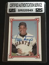 HOF WILLIE MAYS 1984 R.G.I. MAYS STORY SIGNED AUTOGRAPHED CARD CAS AUTHENTIC