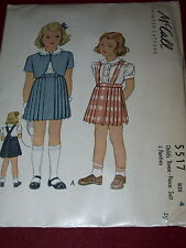 1944 ( WWII ) McCALL #5517 - GIRLS BOLERO - BLOUSE - SKIRT & PANTIES PATTERN  4