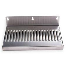 10 In Draft Beer Wall Mount Drip Tray - Stainless Steel - No Drain