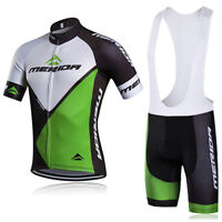 MERIDA SET Cycling Jersey Bib Short Retro Road Pro Clothing MTB Short Sleeve Bik