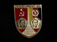 USSR Interkosmos Program. USSR-GDR Joint Space Mission Soviet Pin Badge 1978